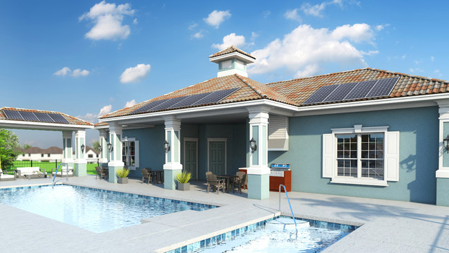 Mirabella's residential housing community for active adults 55+ home buyers has announced the planned installation of solar power to its community center, spa and swimming pool, saving homeowners an estimated $1,500 a month collectively.