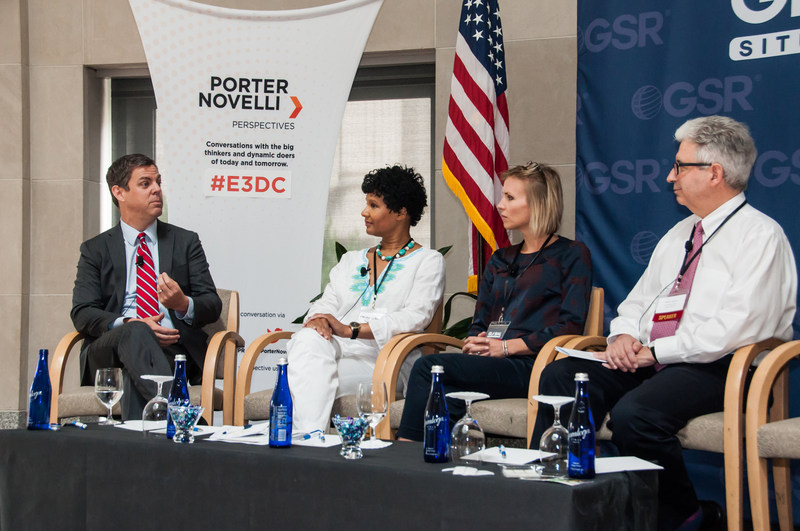 Porter Novelli's Sean Smith, EVP of Global Reputation Management, speaking at Global Entrepreneur Export Exchange Conference in Washington, DC.
