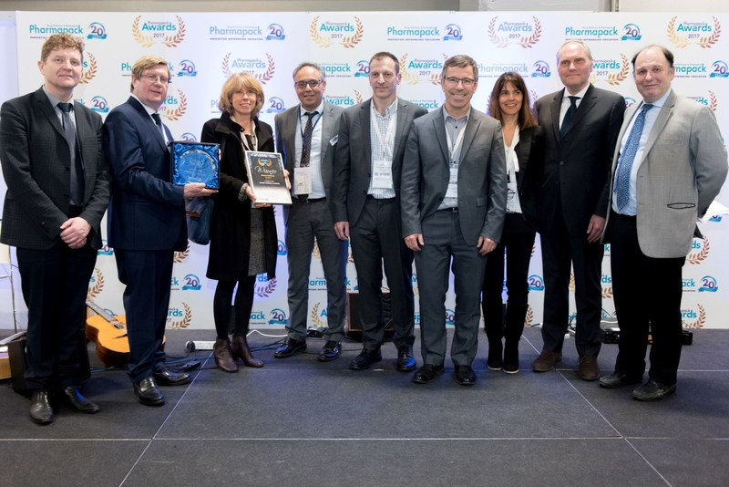 Health Product winner Sanofi & Campak at the Pharmapack Awards ceremony in February 2017 (PRNewsfoto/UBM EMEA)