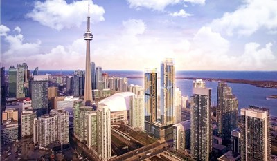 Concord Canada House towers will pay tribute to Canada in a bold yet elegant way. (CNW Group/Concord Adex Developments Corporation)