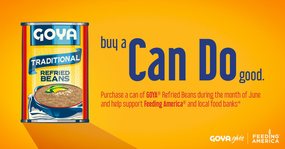 Goya Foods officially kicked off the 'Can Do' campaign at a press conference with Feeding America in Chicago on Wednesday, June 28, 2017, donating 40,000 pounds of food to the Northern Illinois Food Bank.