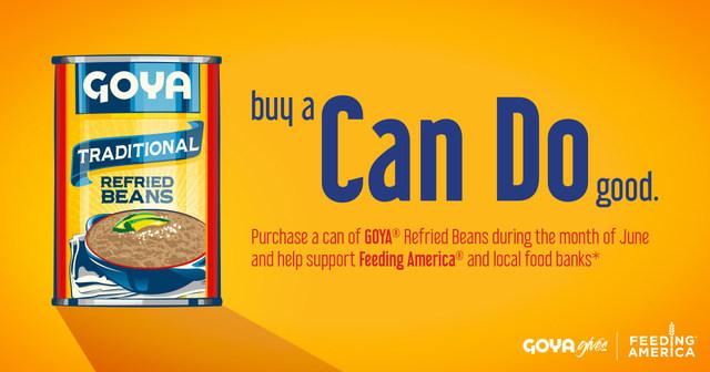 """Este miércoles, 28 de junio, Goya Foods entregó 40,000 libras de productos alimenticios a Northern Illinois Food Bank (NIFB) como parte del lanzamiento de la campaña """"Can Do"""" en beneficio de Feeding America(FA) y bancos locales de alimentos. (PRNewsfoto/Goya Foods)"""