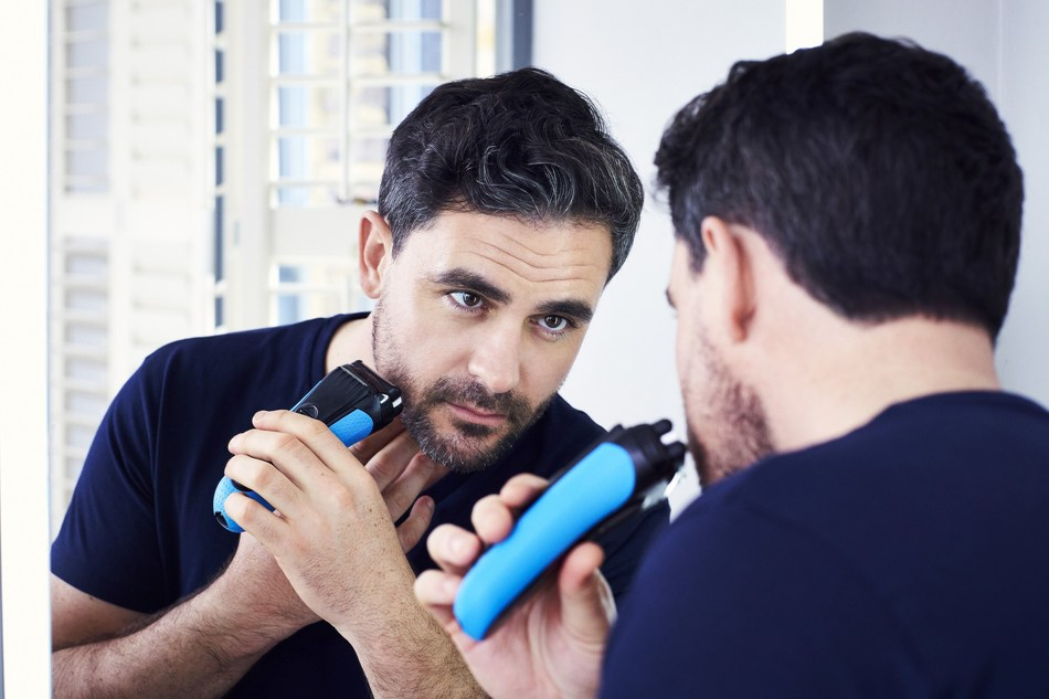 Levison Wood uses the new Braun ProSkin for men, designed to prevent skin irritation from shaving (PRNewsfoto/Braun)