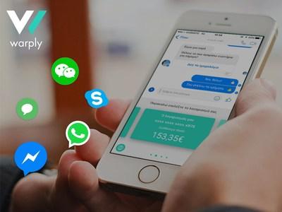 Warply launches the innovative keyboard payments solution (PRNewsfoto/Warply)