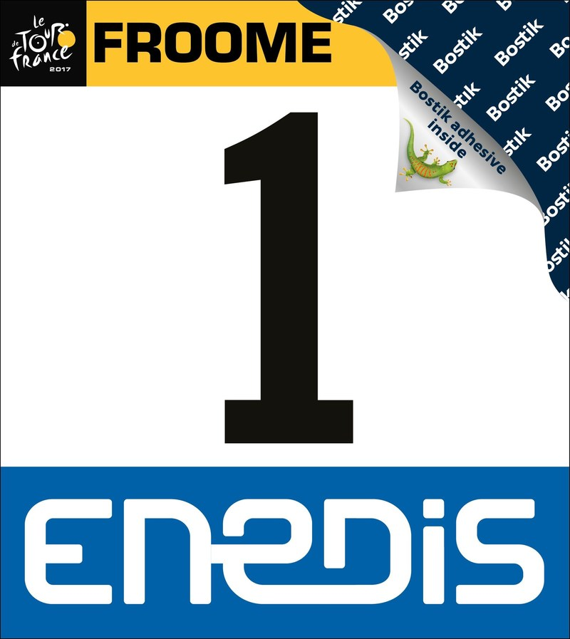 Bostik Adhesive Behind Tour de France Race Numbers (PRNewsfoto/Bostik)