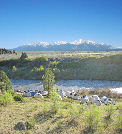 Colorado's Arkansas River is seeing an increase in overnight camping whitewater rafting trips, according to the Arkansas River Outfitters Association.