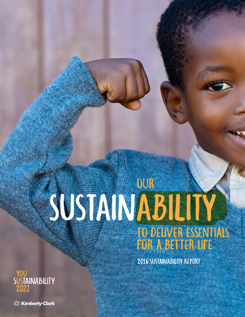 Kimberly-Clark Corporation today published its annual report on sustainability, providing the first update on the company's global progress toward its Sustainability 2022 goals.