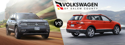 Volkswagen of Salem County highlights notable differences and similarities between the 2018 Volkswagen Atlas and Tiguan models