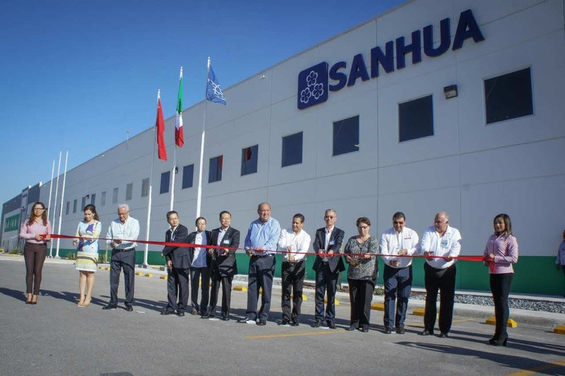 Ribbon-cutting at the open ceremony of Sanhua Automotive TXV facility