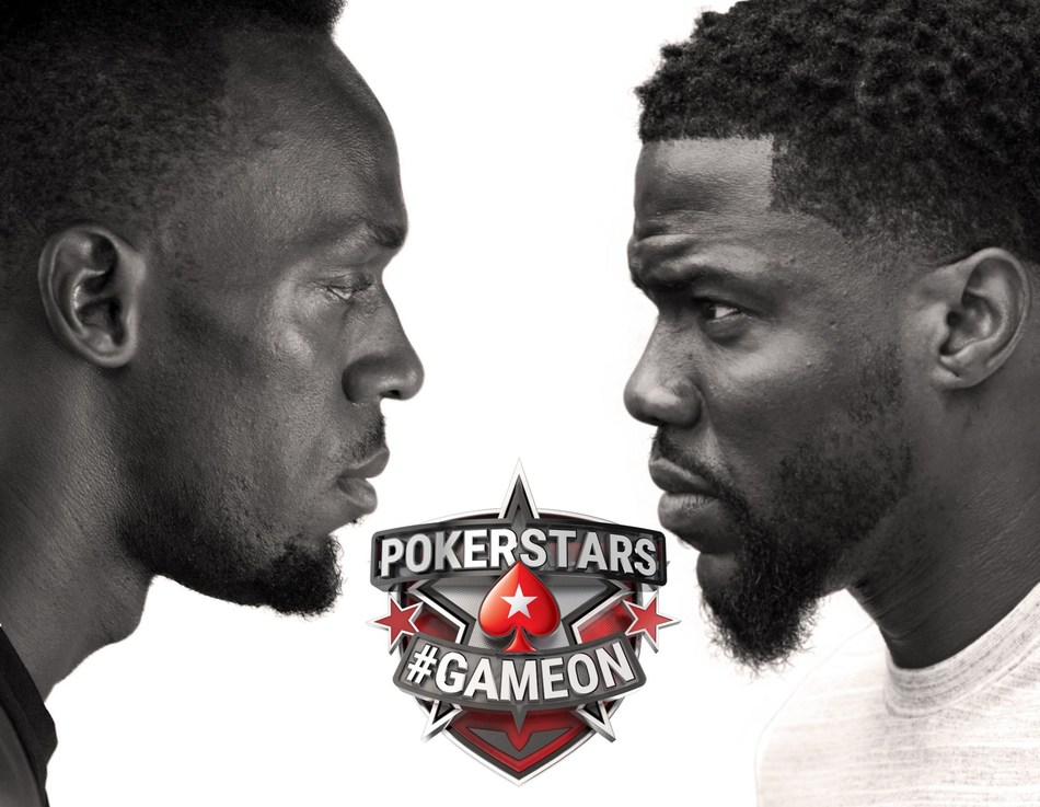 Usain Bolt and Kevin Hart Take on Pokerstars #GAMEON Battle of the Brains - It's fast vs funny in social media skirmish. (PRNewsfoto/PokerStars.com)