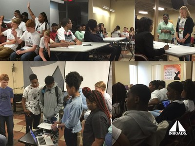 High school students from INROADS College Links-Atlanta developed microcontrollers at the HackIT UpStart workshop powered by STEM Board and INROADS.