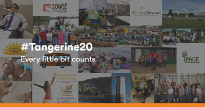 Today, Tangerine announced the Top 20 Finalists in the #Tangerine20 contest. Canadians can vote for their favourite community initiative from July 6-26 at tangerine.ca/tangerine20. The five winning initiatives will be announced on August 9. (CNW Group/Tangerine)