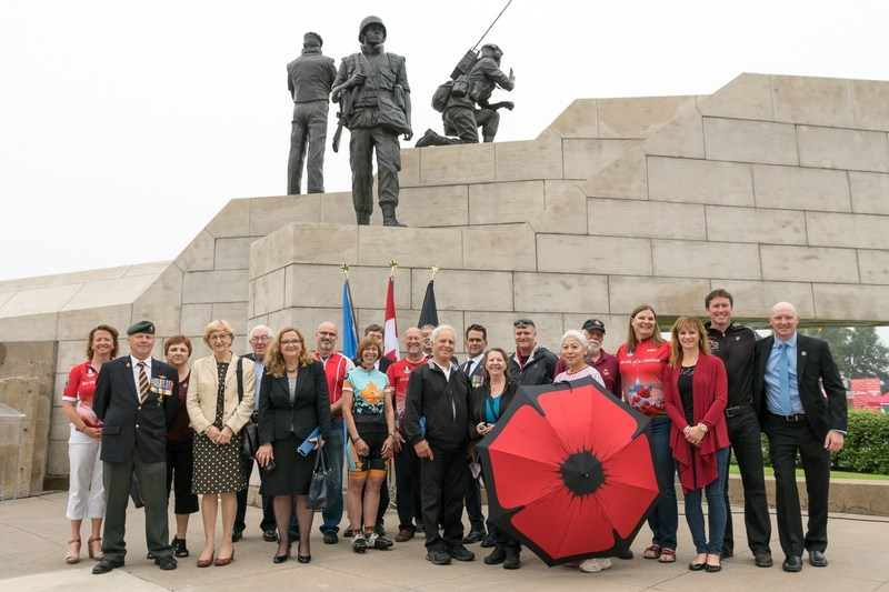 Joined by Veterans and the Ambassadors in Canada to Bosnia and Herzegovina and Croatia, Wounded Warriors Canada announces the location of the Battlefield Bike 2018 at the Reconciliation: The Peacekeeping Monument in Ottawa (CNW Group/Wounded Warriors Canada)