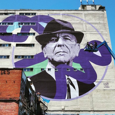 Boulevard Saint-Laurent's Mural Festival pays tribute to legendary Canadian musician Leonard Cohen. Montreal's 'the Main' welcomes visitors on Canada Day to enjoy a rich, cultural experience. (CNW Group/Boulevard Saint-Laurent)