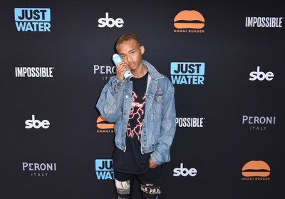 Jaden Smith and Sam Nazarian at Umami Burger Redesign Launch Party at The Grove in Hollywood