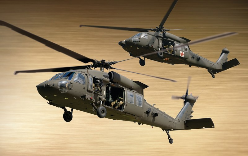 This image features the UH-60M Black Hawk and HH-60M MEDEVAC.