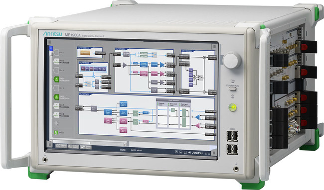Anritsu introduces the Signal Quality Analyzer MP1900A that supports simultaneous multi-channel measurements, PAM4 BER tests, and PCI Express link negotiation. Its comprehensive test capability helps engineers verify next-generation high-speed interface designs.