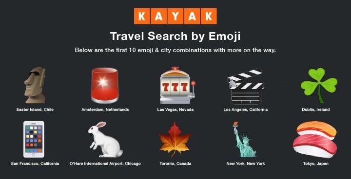 KAYAK Introduces Travel Search by Emoji (CNW Group/KAYAK)