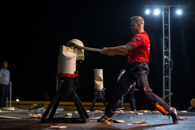 Charlottetown, PEI (July 1, 2017) – As part of the city's Canada Day 150 celebrations, the birthplace of Confederation hosted the STIHL TIMBERSPORTS Canadian Champions Trophy, known as the Master's Cup of the sport, where Stirling Hart of Vancouver, British Columbia beat out seven of Canada's top athletes to be crowned the 2017 Champion. Credit: M (CNW Group/STIHL TIMBERSPORTS)