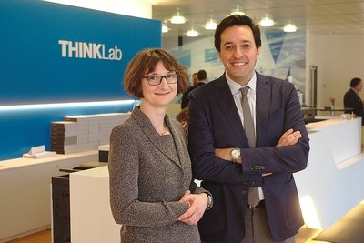 Heike Riel and her colleague Dario Gil at the IBM Research Frontiers Institute event in Switzerland.