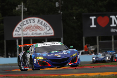 Andy Lally and Katherine Legge piloted their Acura NSX GT3 to a second consecutive 2017 WeatherTech SportsCar Championship victory Sunday at Watkins Glen International Raceway.