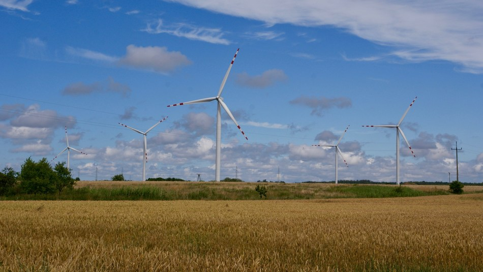 Dobieslaw wind farm, one of four projects involved in the lawsuits. Located in the Village of Dobiesław, Darłowo Municipality, Slawno County, northwest Poland, approximately 285 miles northwest of Warsaw. It is a 27.5 megawatt project. (photo credit: Invenergy)