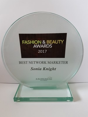 Sonia Knight, an Independent Distributor for NuCerity International, won Best Network Marketer at the 2017 UK Fashion & Beauty Awards.