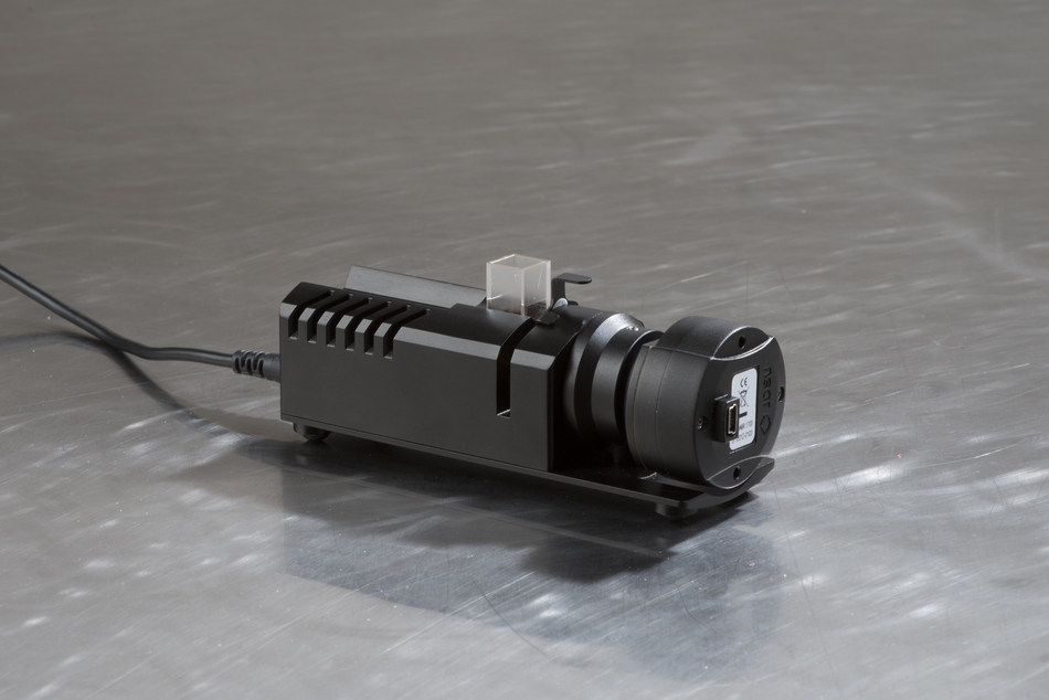 Viavi's MicroNIR™ Transmission Fixture is used for the transmission analysis of liquids and/or thin filters and films.