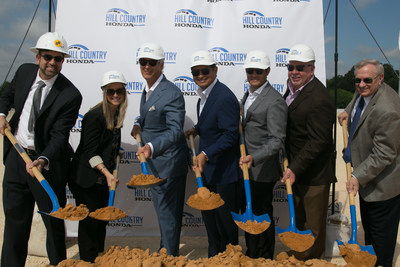 Executives and well-wishers helped celebrate Hill Country Honda's groundbreaking at their recent ceremony.