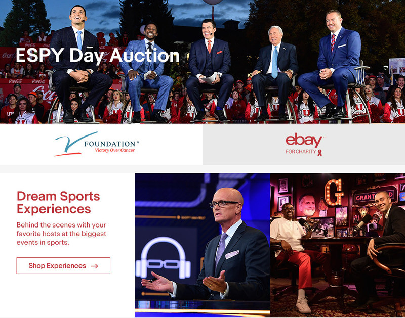 To shop the annual ESPY charity auction, head to& eBay.com/ESPN through July 12.