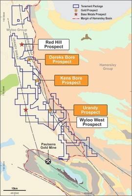 Figure 6 - Geology and property map of the West Pilbara project (CNW Group/Chalice Gold Mines Limited)