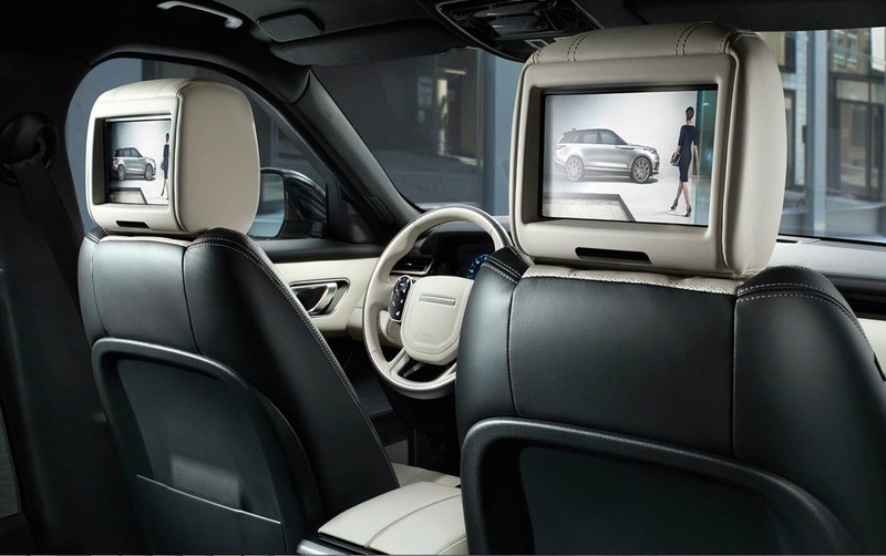 Rear-seat infotainment displays on all-new Range Rover Velar, supplied by Visteon