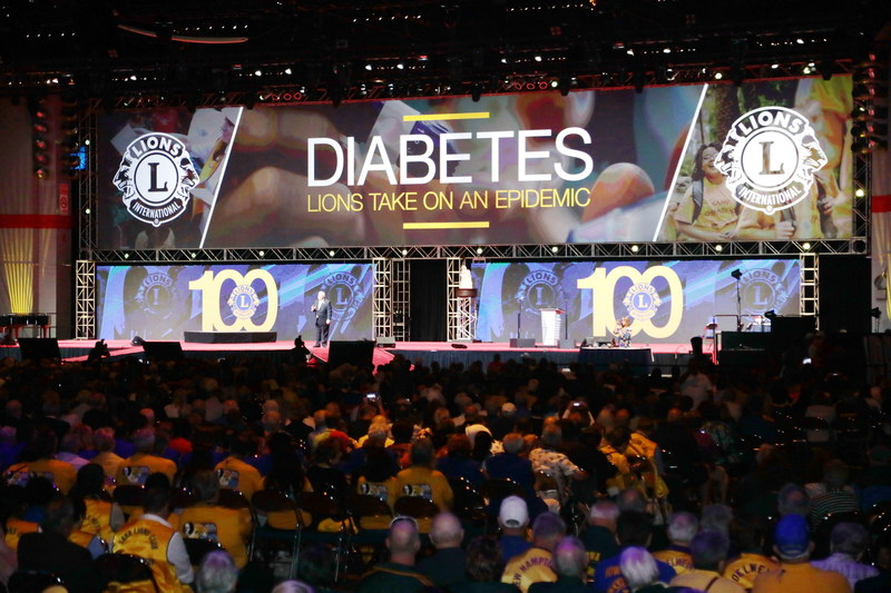 At their centennial convention in Chicago, Lions International unveils diabetes as a new global signature cause around which they will mobilize their 1.4 million volunteer members in 200 countries.