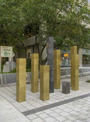 Section de l'installation Le Joyau royal et le Mile doré, de Philippe Allard et Justin Duchesneau. (Groupe CNW/Brigade Arts Affaires de Montréal (BAAM))