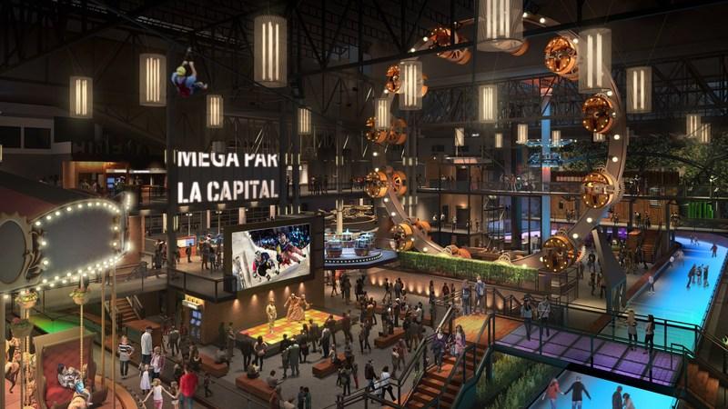 Galeries de la Capitale: Model of the new Méga Parc (CNW Group/GALERIES DE LA CAPITALE)