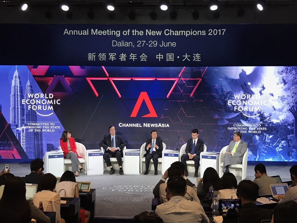 Zeng Qinghong, Chairman of GAC Group, attended the teleconference and gave a speech at 2017 Davos