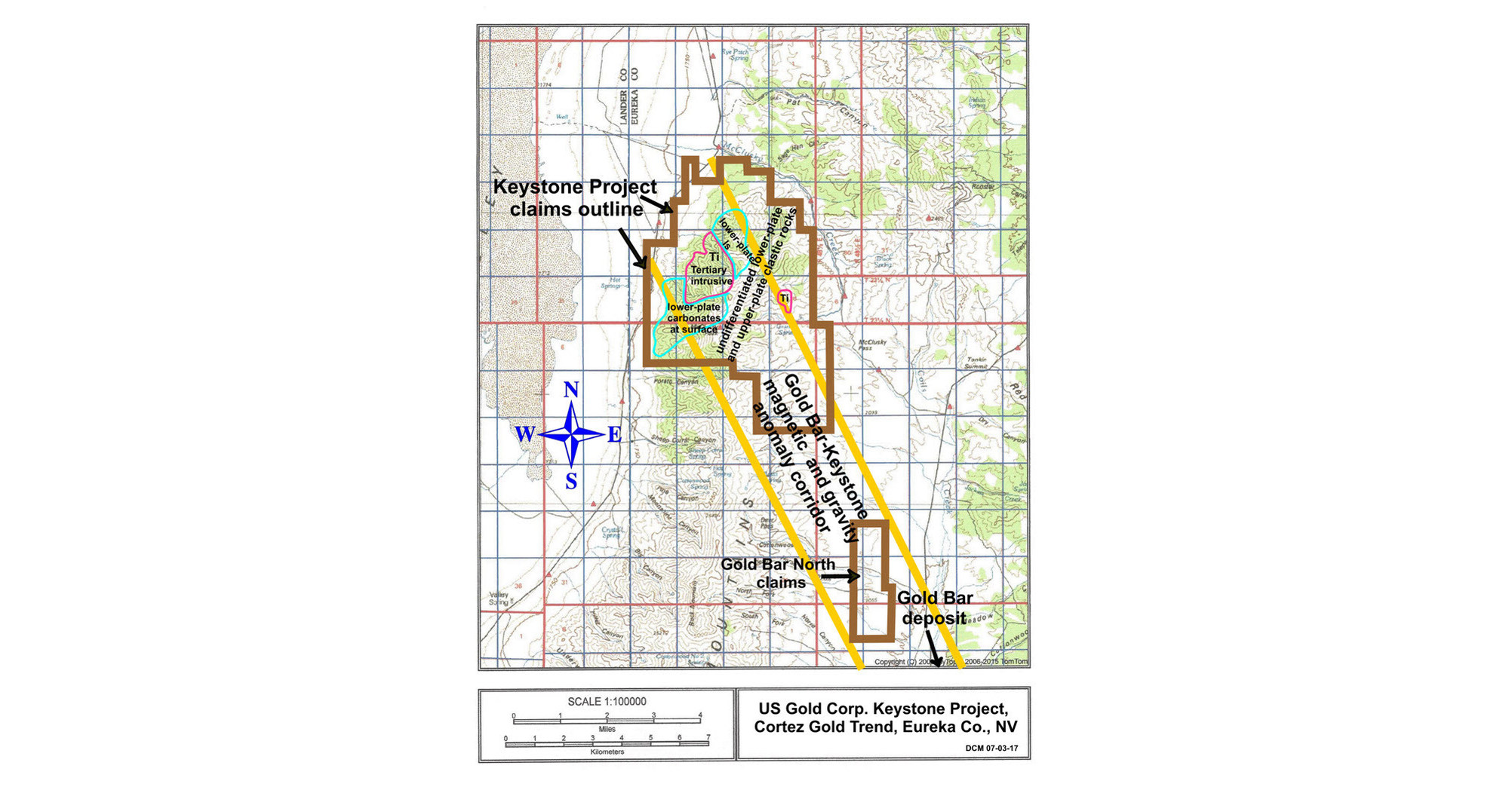 US Gold Corp Increases Opportunity At Its Keystone Asset With The - Us gold map