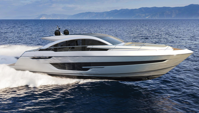 The Fairline Targa 63 GTO is designed by Fairline Yachts in combination with Italian designer Alberto Mancini and Dutch naval architects Vripack.