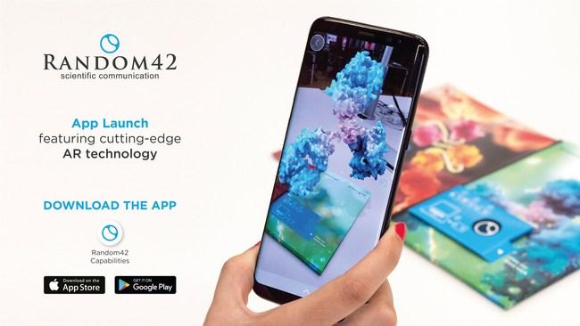 Random42 Scientific Communication App Launch Featuring AR Technology