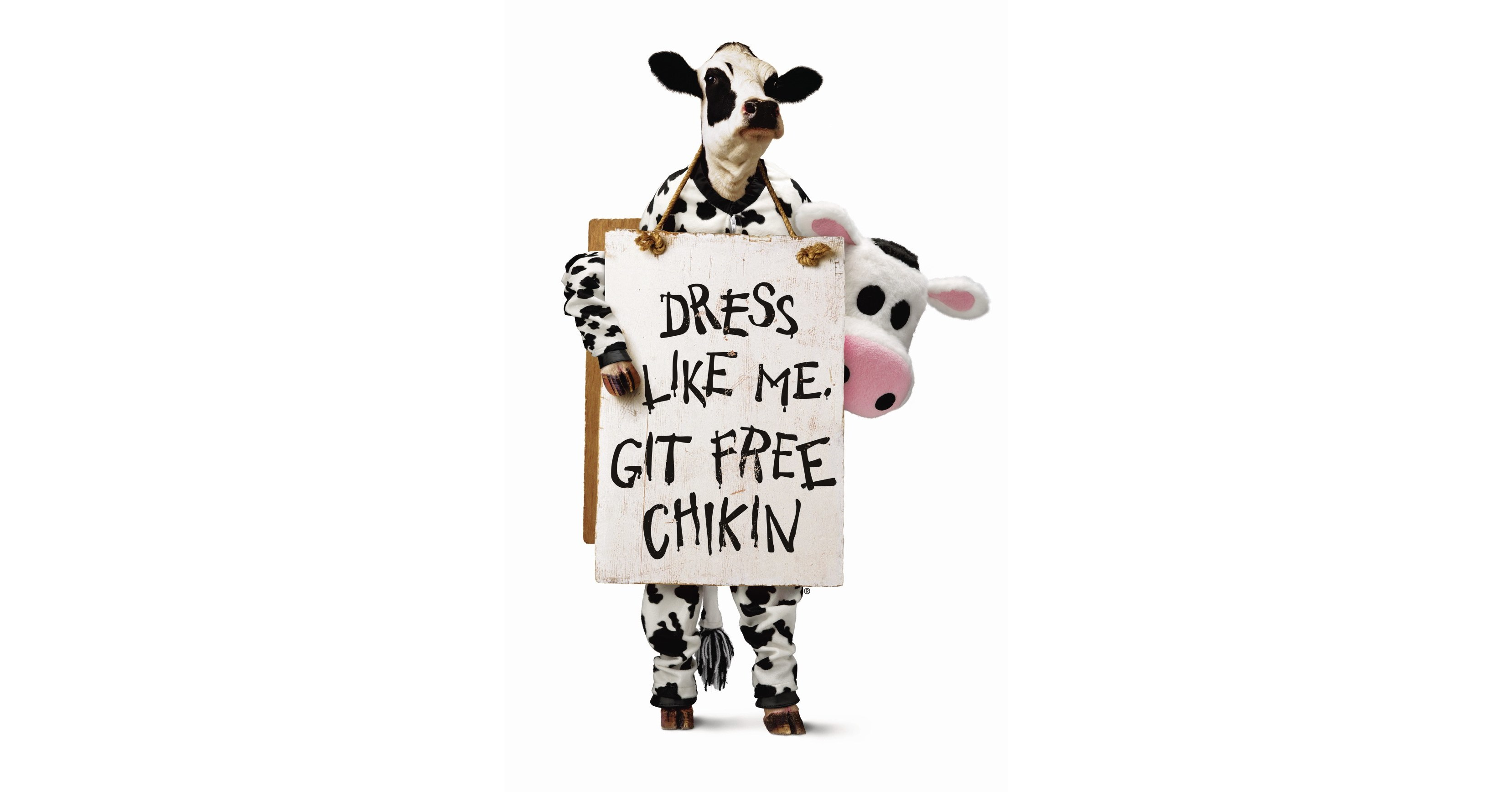 fil a offers free entrees to cow dressed customers on cow