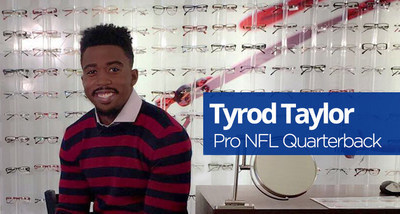 Buffalo Bills starting quarterback Tyrod Taylor, as a part of his partnership with My Eyelab, has his own line of fashion-forward men's frames.