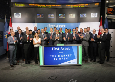 Rohit Mehta, President, First Asset, a CI Financial Company, joined Dani Lipkin, Head, Business Development, Exchange Traded Funds, Closed-End Funds, and Structured Notes, TMX Group to open the market to launch one new Exchange-Traded Fund (ETF): First Asset U.S. TrendLeaders Index ETF (SID). First Asset, a CI Financial Company, is a Canadian investment firm delivering a comprehensive suite of smart ETF solutions. SID commenced trading on Toronto Stock Exchange on July 5, 2017. (CNW Group/TMX Group Limited)