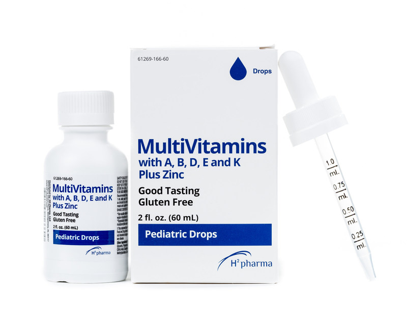 MultiVitamins with A, B, D, E and K Plus Zinc Drops