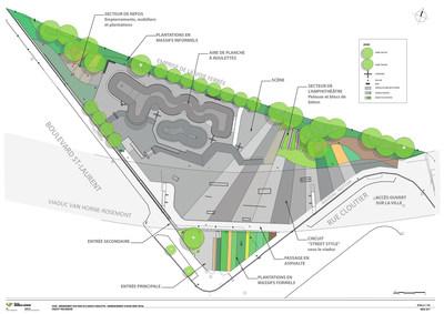 Plan d'aménagement (Groupe CNW/Ville de Montréal - Arrondissement du Plateau-Mont-Royal)