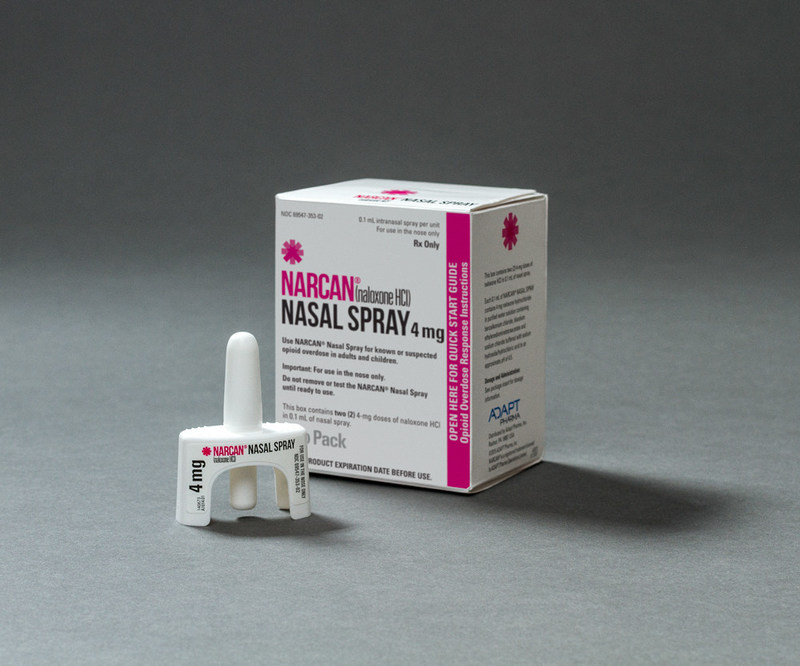 Opioid overdose antidote NARCAN™ (naloxone HCl) Nasal Spray (CNW Group/Adapt Pharma)