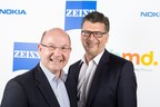 Florian Seiche, President, HMD Global and Andreas Back, Head of Brand Management and Head of Marketing Consumer Optics, ZEISS (PRNewsfoto/HMD Global and ZEISS)