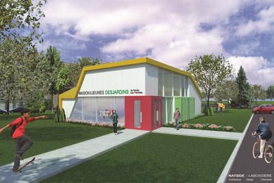 Annonce de la construction de la Maison des jeunes DESJARDINS de Pointe-aux-Trembles, 5 juillet (Groupe CNW/Ville de Montréal - Arrondissement Rivières-des-Prairies - Pointe-aux-Trembles)