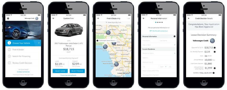 Volkswagen iOS Screen Collage