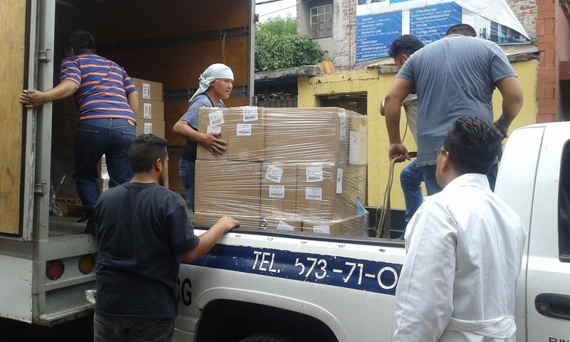 Requested medicines from Direct Relief arrive at MexFam facility in Mexico (photo courtesy of Mexfam).