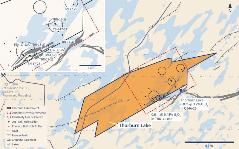 Figure 2 - Thorburn Lake Drill Hole Locations (CNW Group/IsoEnergy Ltd.)